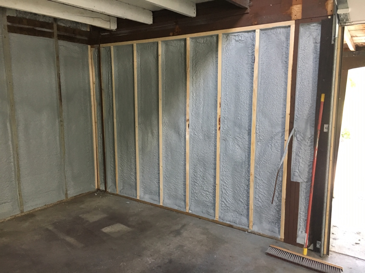Spray foam - garage walls